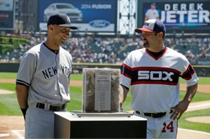 Derek Jeter got to return the favor Sunday at Yankee Stadium to Paul Konerko, who was the White Sox representative when the Captain was honored earlier this year at U.S. Cellular Field.