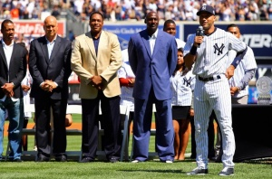 Gerald Williams, Cal Ripken Jr., Dave Winfield, Michael Jordan, Derek Jeter. (New York Post photo)